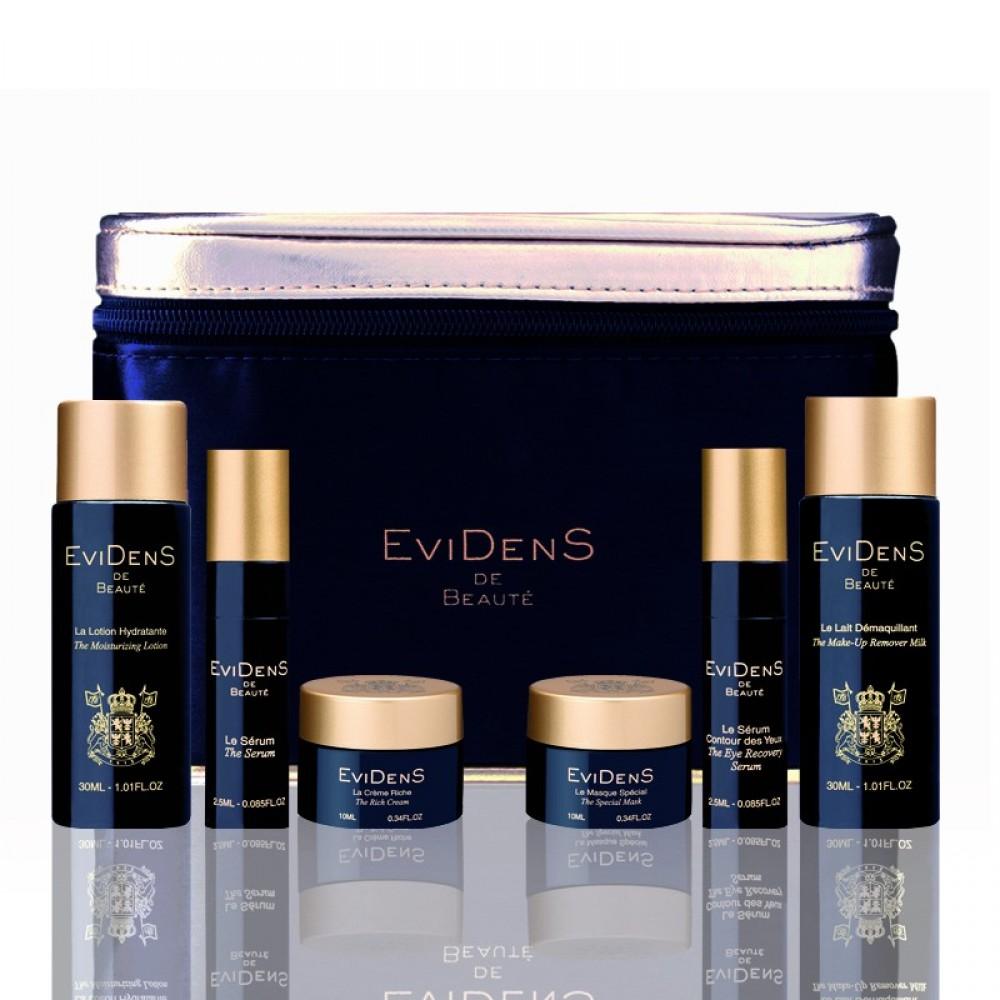 Дорожный набор антивозрастной уход EviDenS de Beaut (6 едениц)